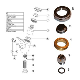 Replacement Fittings Kit For Drinking Fountain Tap image