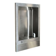 stainless steel recessed drinking water fountain